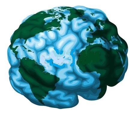 11863165-una-ilustracion-conceptual-de-un-globo-del-mundo-en-la-forma-de-un-cerebro-humano
